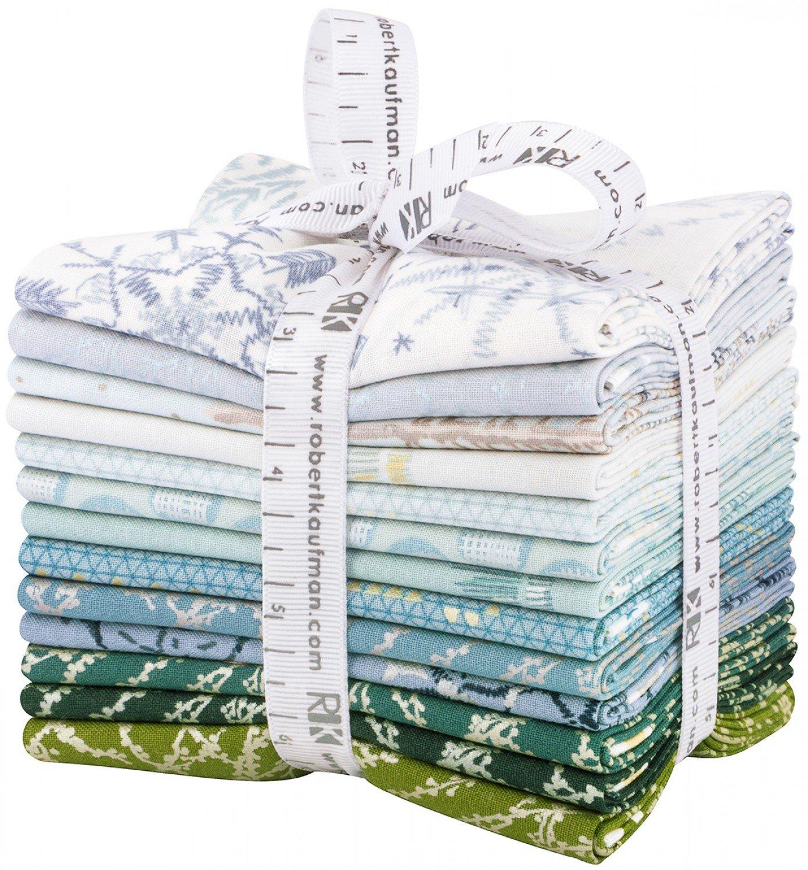 Robert Kaufman Winter Shimmer Coordinates AND Winter Shimmer WINTER Colorstory by Jennifer Sampou Fat Quarter Bundles