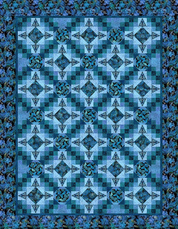 In The Beginnning Resplendent by Jason Yenter JYOB BLUE Resplendent Quilt KIT $217.00/per kit PREORDER DUE OCT/NOV '21