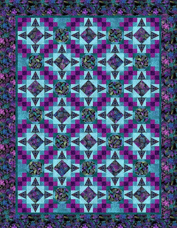 In The Beginnning Resplendent by Jason Yenter JYOP Purple Resplendent Quilt KIT $217.00/per kit PREORDER DUE OCT/NOV '21