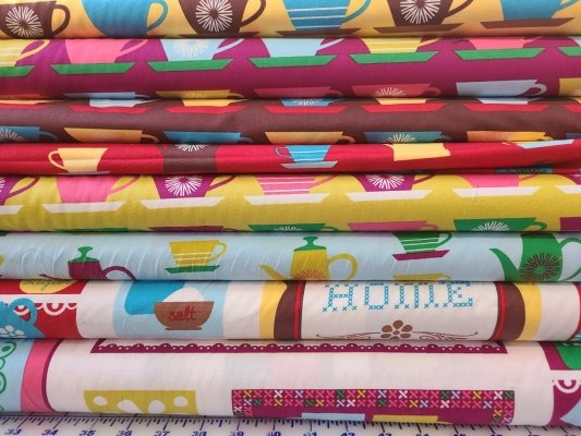 CLEARANCE SALE 8 YARD COLLECTION Kaufman Happy Home 8 One Yard Cuts $39.95/each set of 8