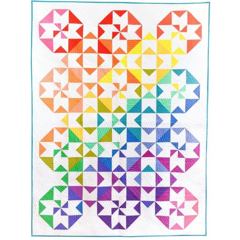 Michael Miller Sew Colorful KIT0193 Color Wheel Quilt Kit $105.00/per kit