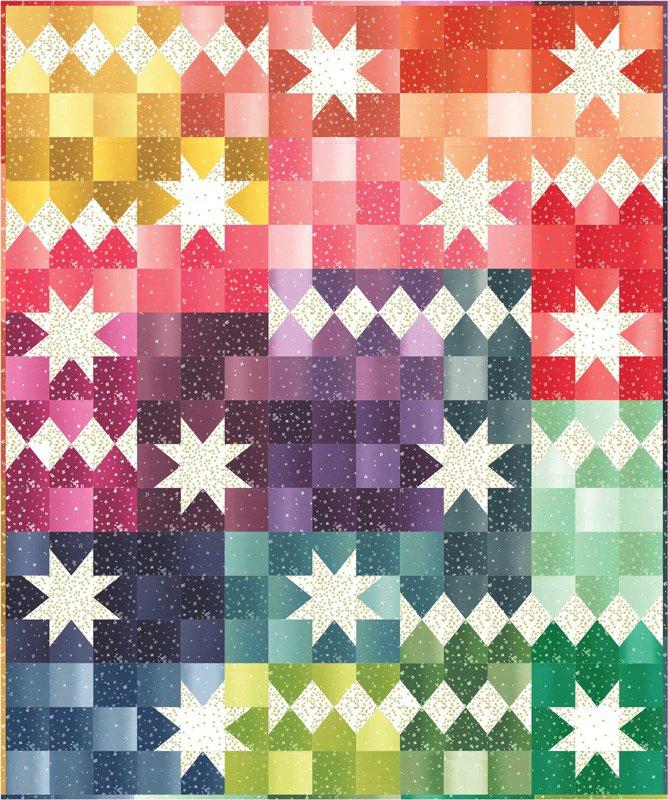 Moda Kits KIT10870 Ombre Bloom Quilt KIT $95.00/per kit