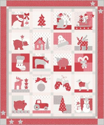 Moda KIT2960 Country Christmas Quilt Kit by Bunny Hill Designs $175.00/each