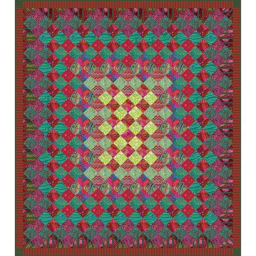 Free Spirit Kits - KITQTGP Festive Jewel Quilt Kit $134.90/per kit PREORDER DUE JUNE/JULY '20