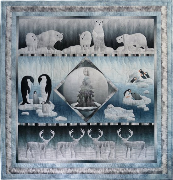 Hoffman Quilt Kits MRAC 176 Ice Winter Animals KIT $115.00/per kit PREORDER DUE JUNE/JULY '19