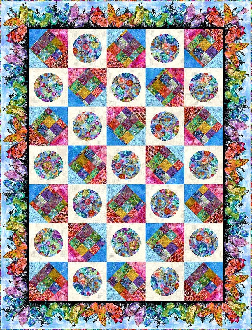 In The Beginning Elysian by Jason Yenter MULTI Elysian Quilt KIT $217.00/kit PREORDER DUE SEPT/OCT '21