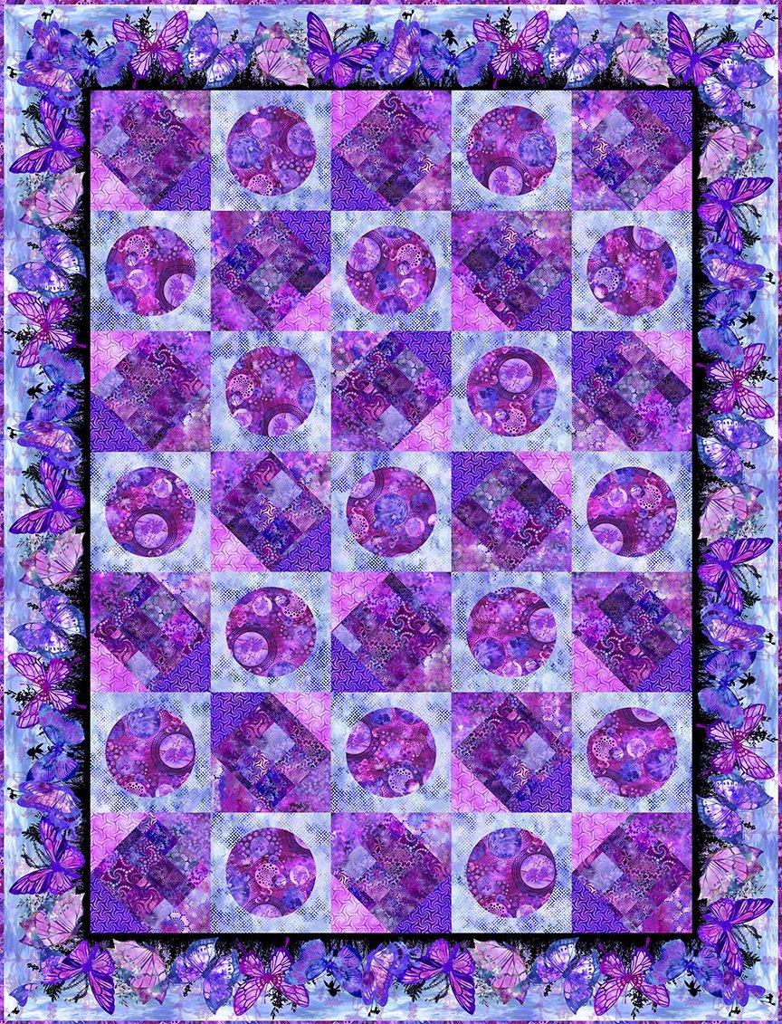 In The Beginning Elysian by Jason Yenter PURPLE Elysian Quilt KIT $217.00/kit PREORDER DUE SEPT/OCT '21