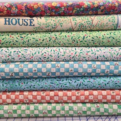 CLEARANCE SALE 8 YARD COLLECTION QT Fabrics Bless this House by Ellen Souffer $49.95/set of 8