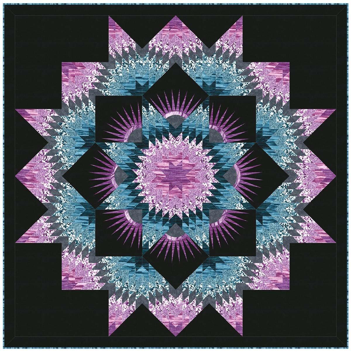 Michael Miller Mardi Gras Quilt KIT using Strata  by Christine Stainbrook KIT0179 $225.00 / kit