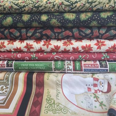 CLEARANCE SALE 7 YARD COLLECTION RJR Assorted Christmas 7 One Yard Cuts $35/each set of 7