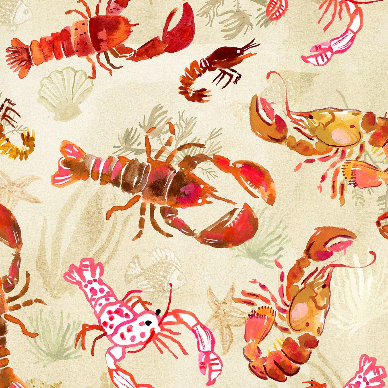 Dear Stella High Seas - Digital by August Wren ST DAW 1368 Lobsters $11.30/yd