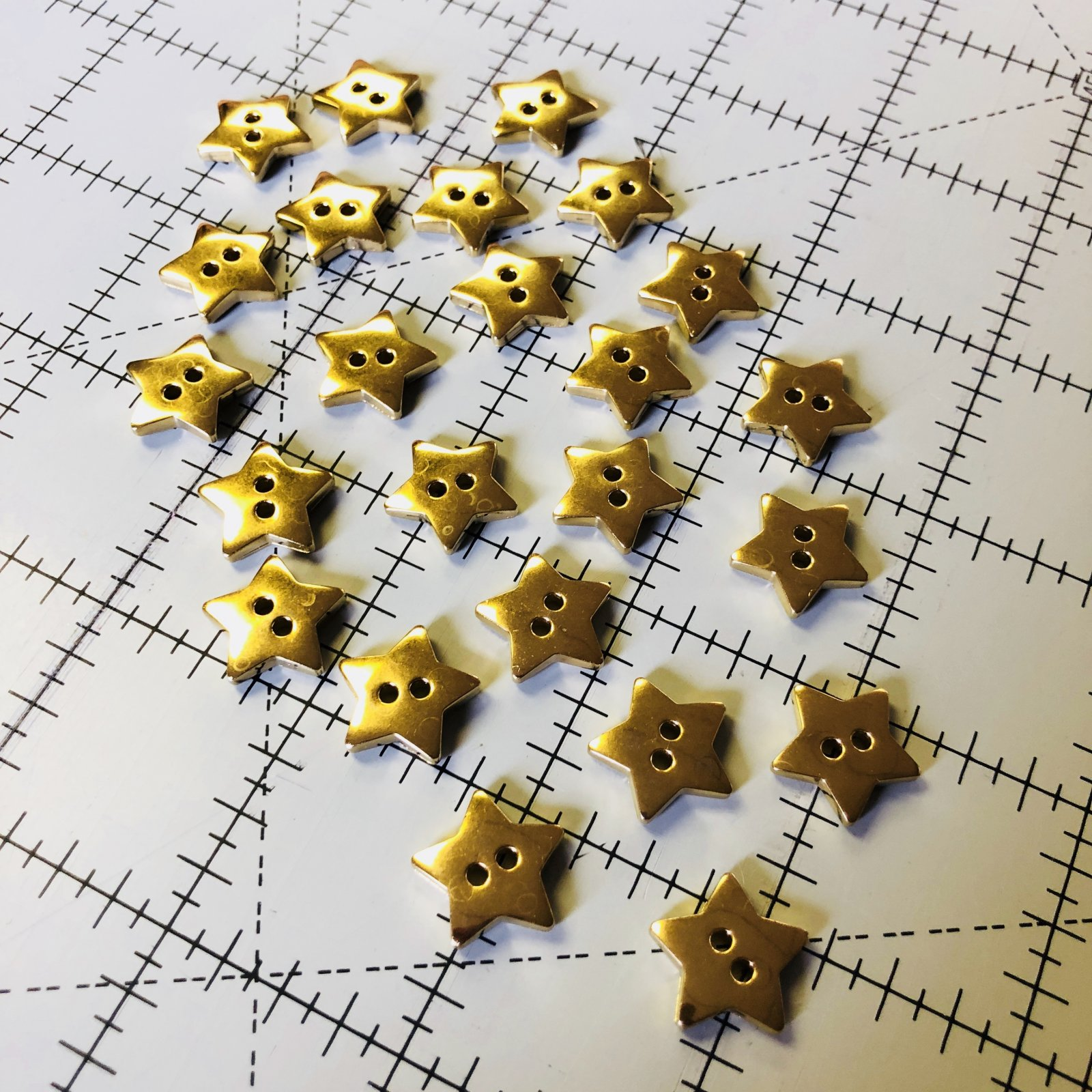 Gold Star Buttons - 24 ct.