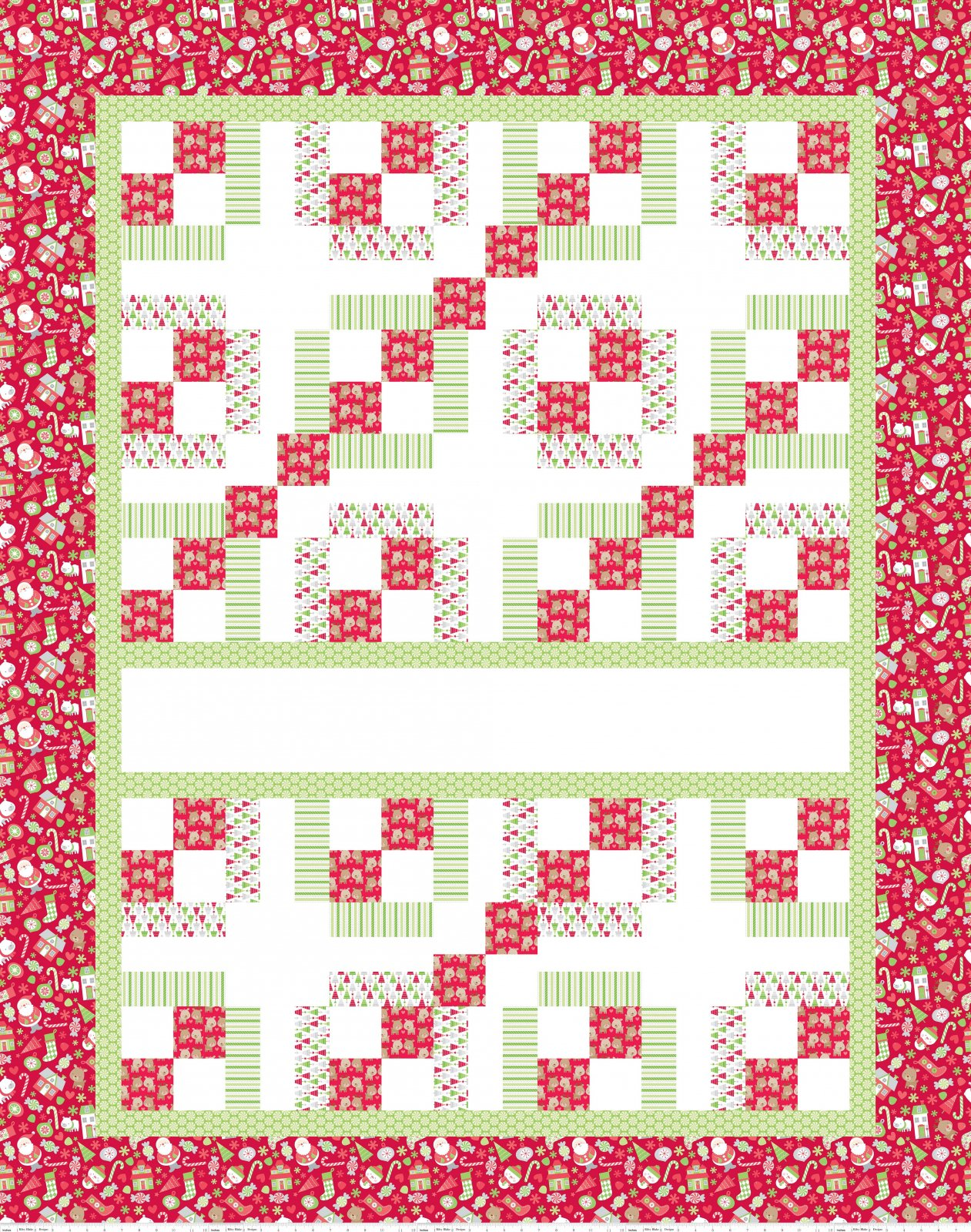 Home for the Holidays Panel Fabric