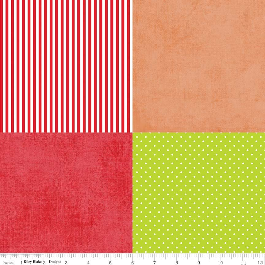 Home for the Holidays Fusible Fat Sixths Fabric Pack