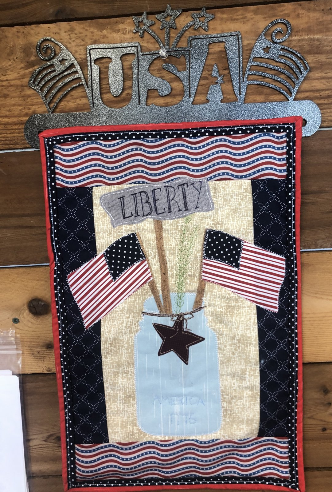Patch Abilities Liberty Ball Jar Pattern with USA Hanger
