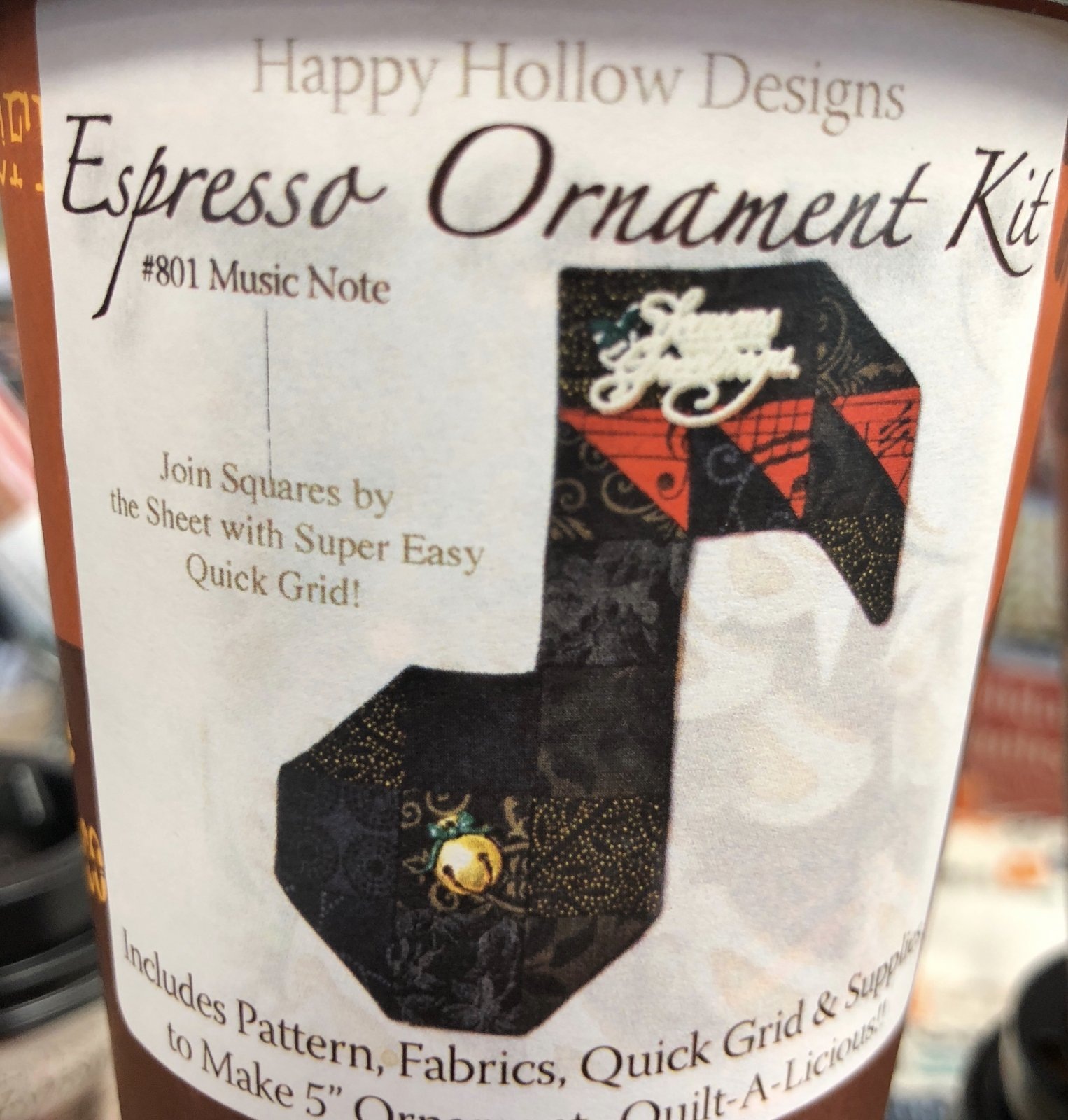 Espresso Fabric Kit - Music Notes