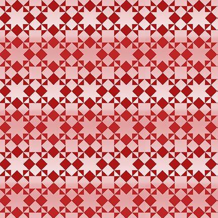 Small Monotone Quilt Pattern - Red - Holiday Heartland