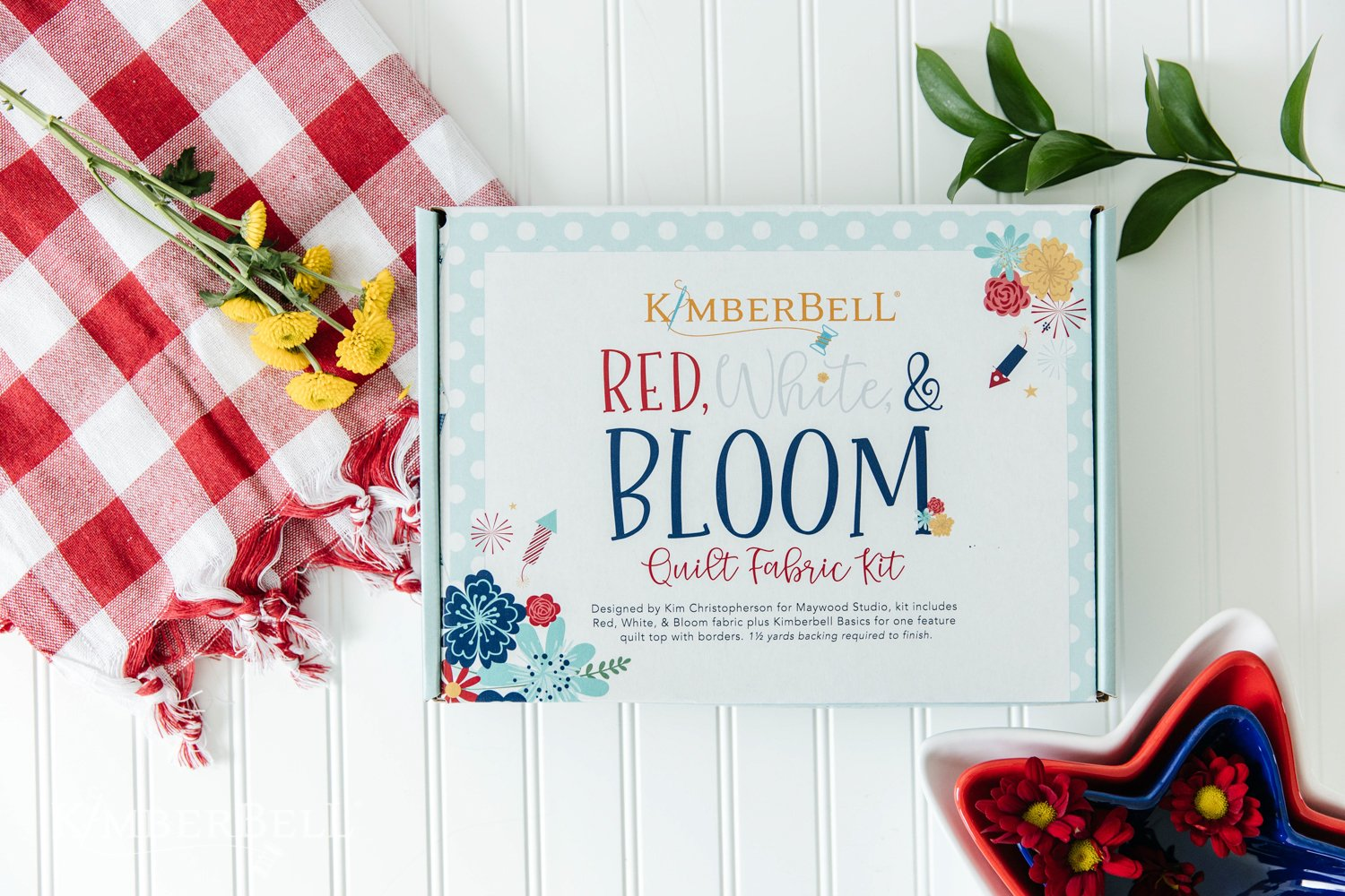 Red, White & Bloom Fabric Kit