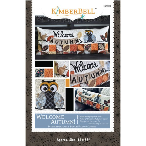 Kimberbell Welcome Autumn! - Bench Pillow Sewing Version