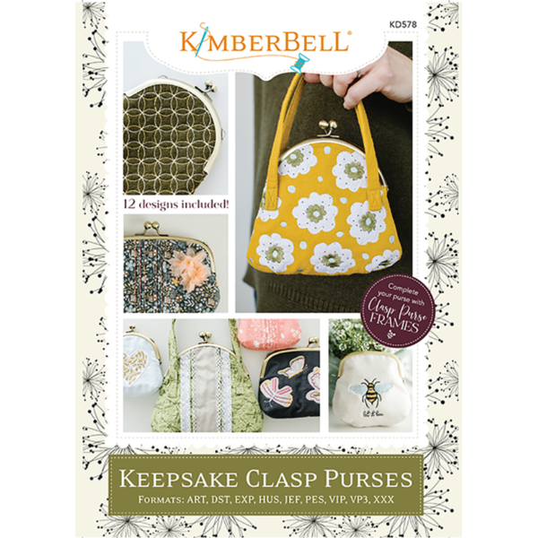 Clasp Purses Embroidery CD - Kimberbell Designs