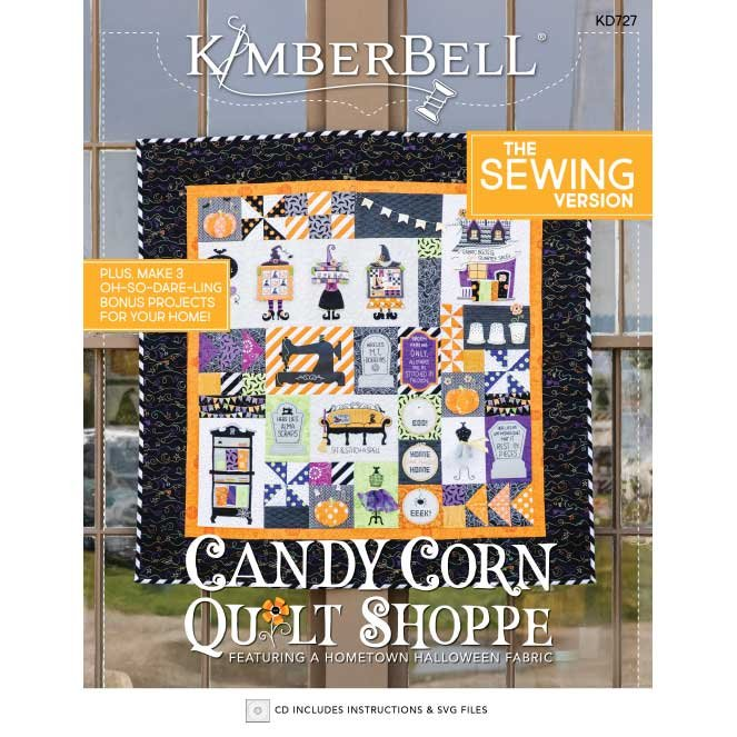 Kimberbell Candy Corn Quilt Shoppe Quilt Complete Kit