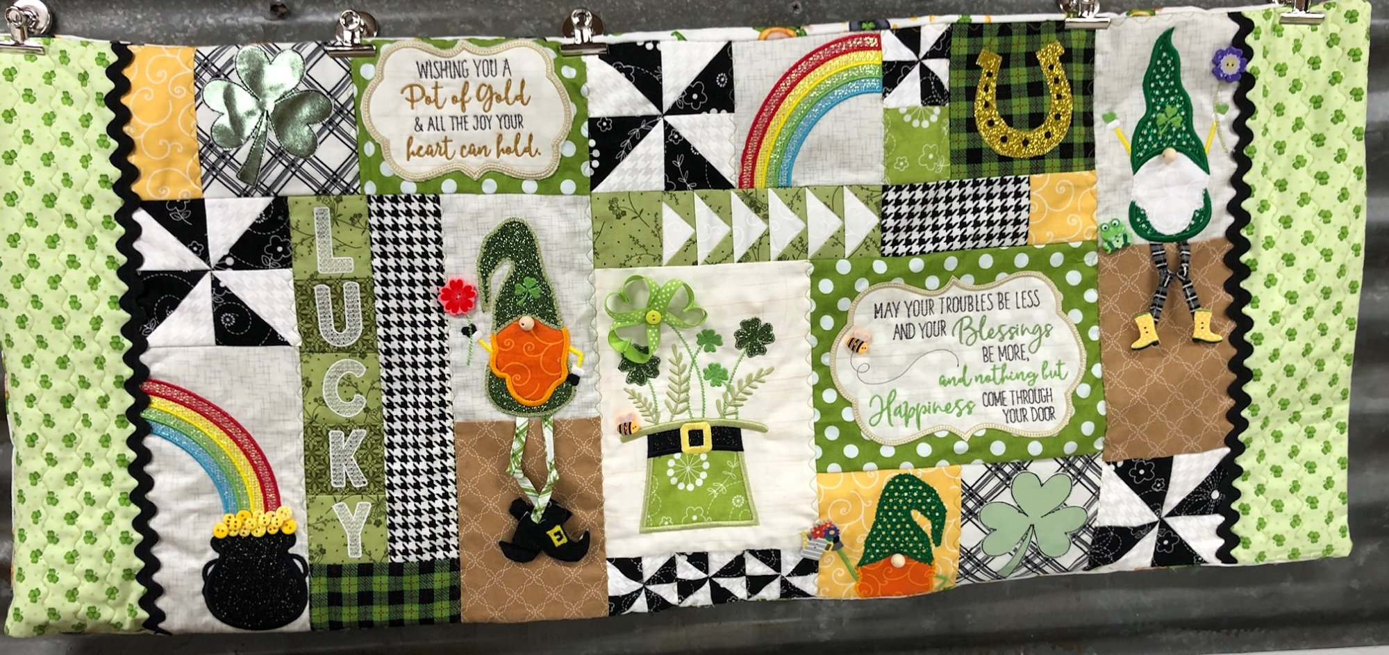 Luck of the Gnome Bench Pillow Fabric & Embellishment Kit