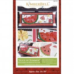 KimberBell Slice of Summer Watermelon Bench Pillow Pattern