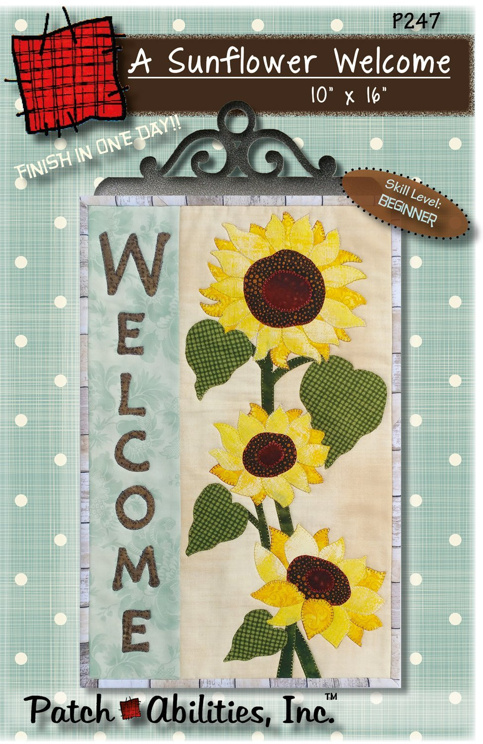A Sunflower Welcome Pattern & French Curl Hanger