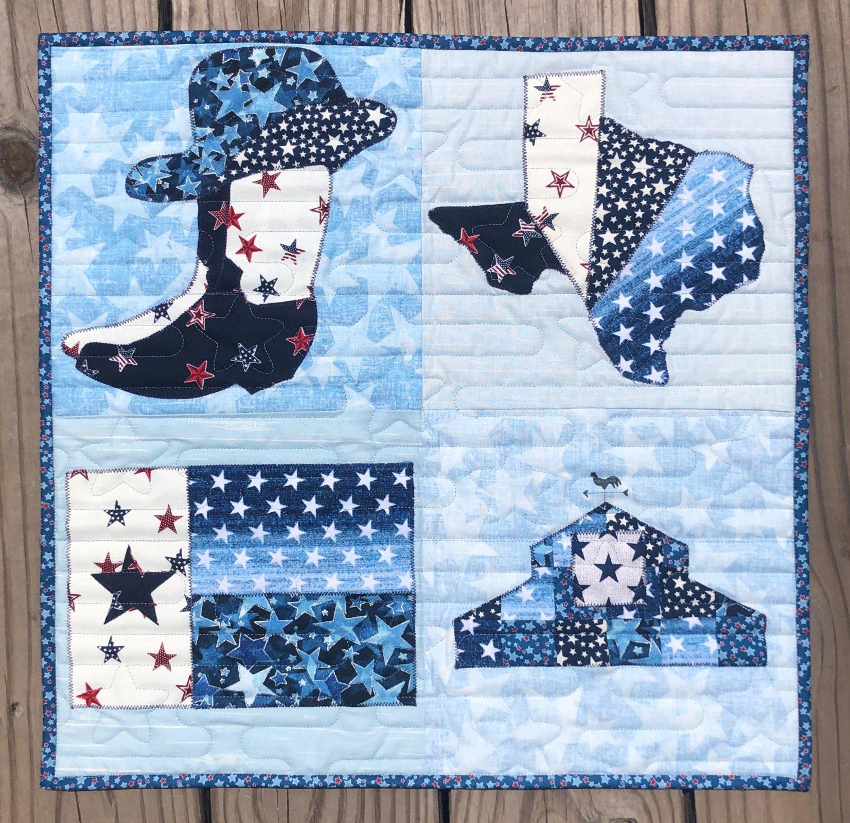 Texas Quilt Barn True Blue Kit