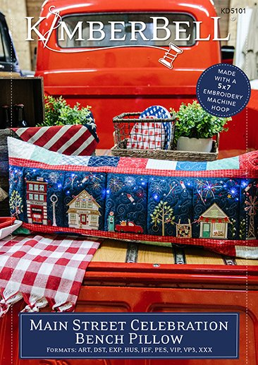 Main Street Celebration Bench Pillow Pattern