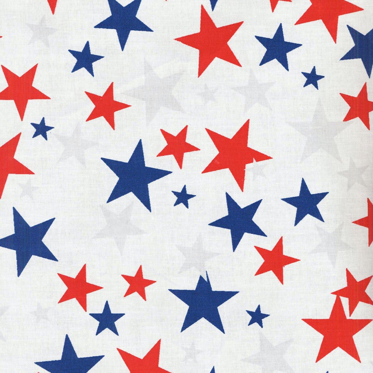 Patriotic Stars 108in Wide Back