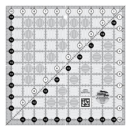 CGR10 Creative Grids Quilt Ruler 10-1/2 in Square