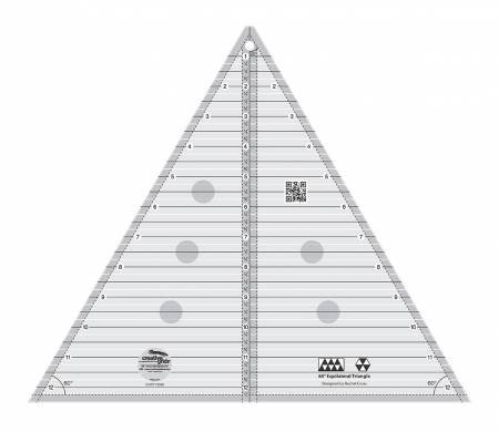 CGRT12560 60 Degree Triangle 12-1/2in Quilt Ruler