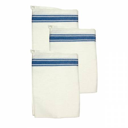PKSTB Aunt Martha's Vintage 1930 Striped Towels 18in x 28in Blue