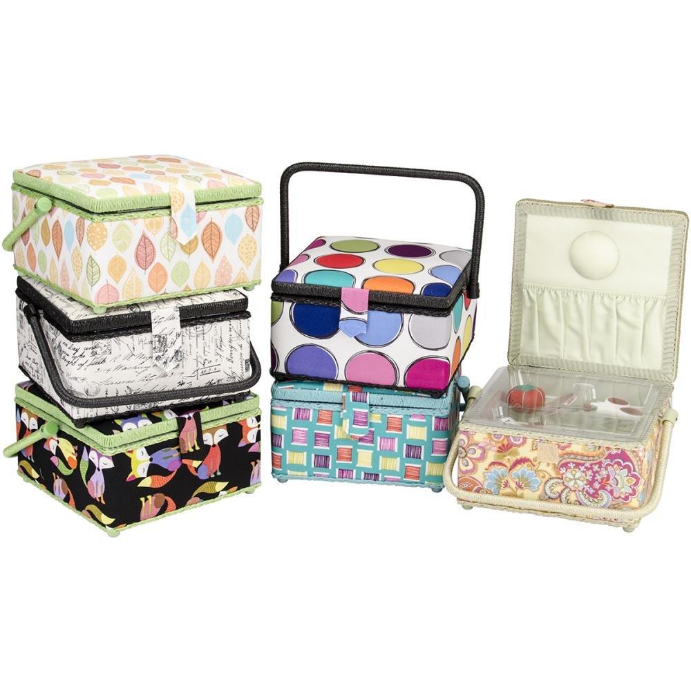 DZ10213 Promotional Sewing Basket  9 inch  x 9 inch x 5-1/2 inch