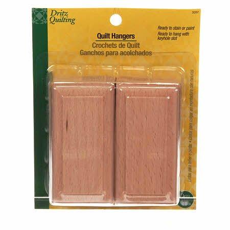 3207 Wood Keyhole Slot Quilt Hangers