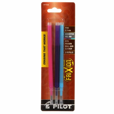 FX7R3002 Frixion Clicker Pen Fine Point 0.7mm Refill 3pk