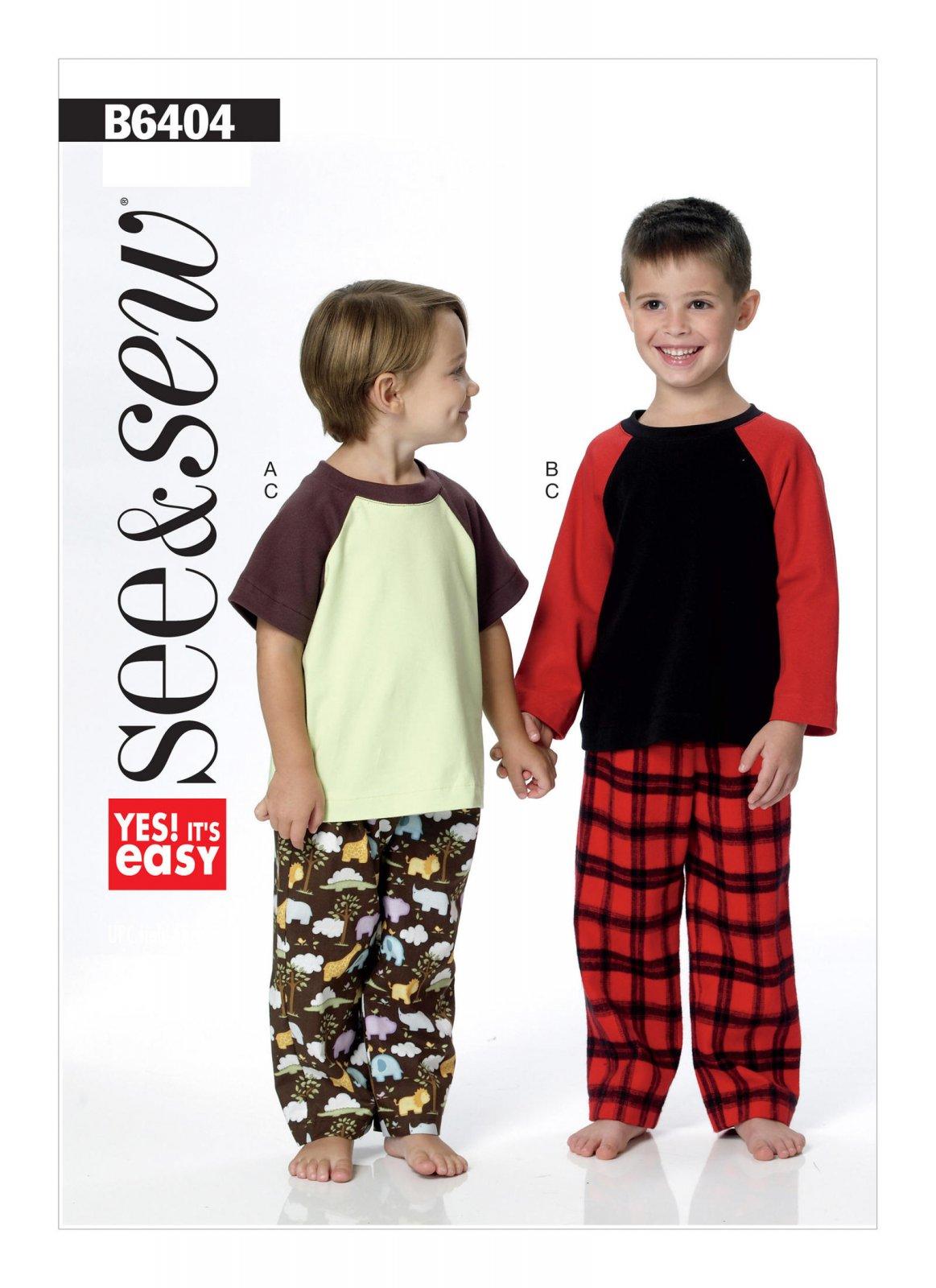 See & Sew Boys Pajamas