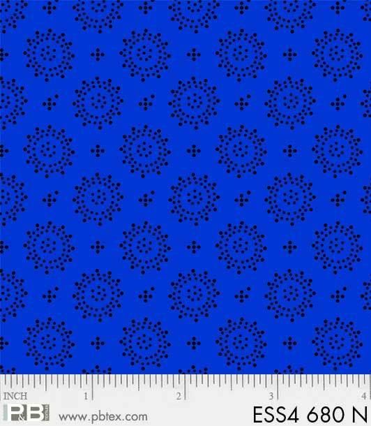 Bear Ess Dots Geo Royal Blue