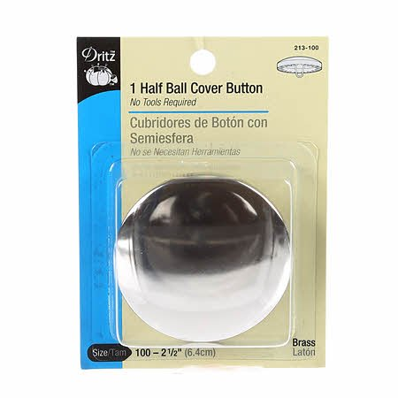 Button Cover Half Ball 2 1/2in