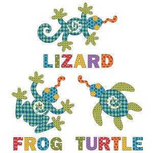 Frog, Lizard Turtle w/Letters