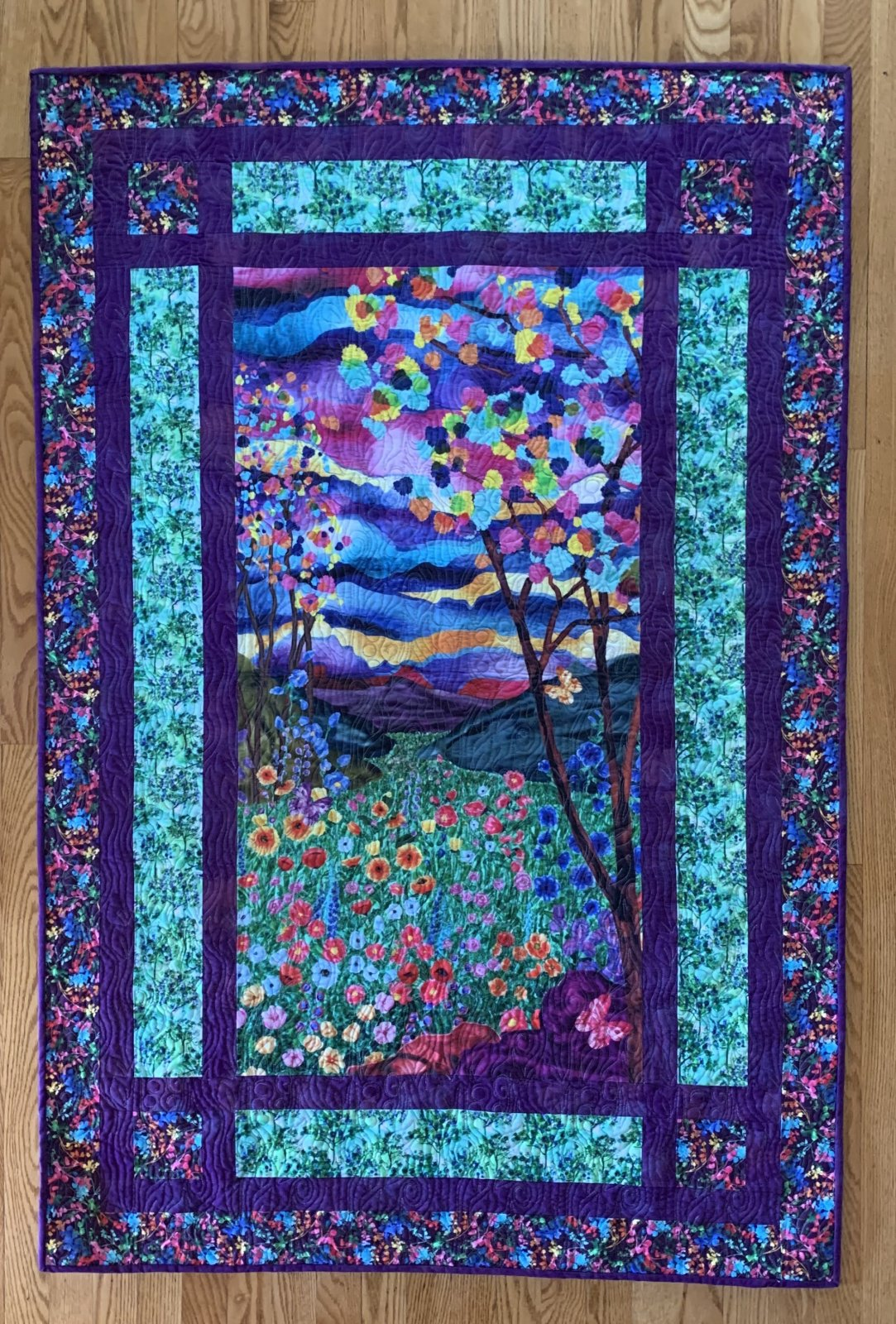 Electric Nature Quilt Kit