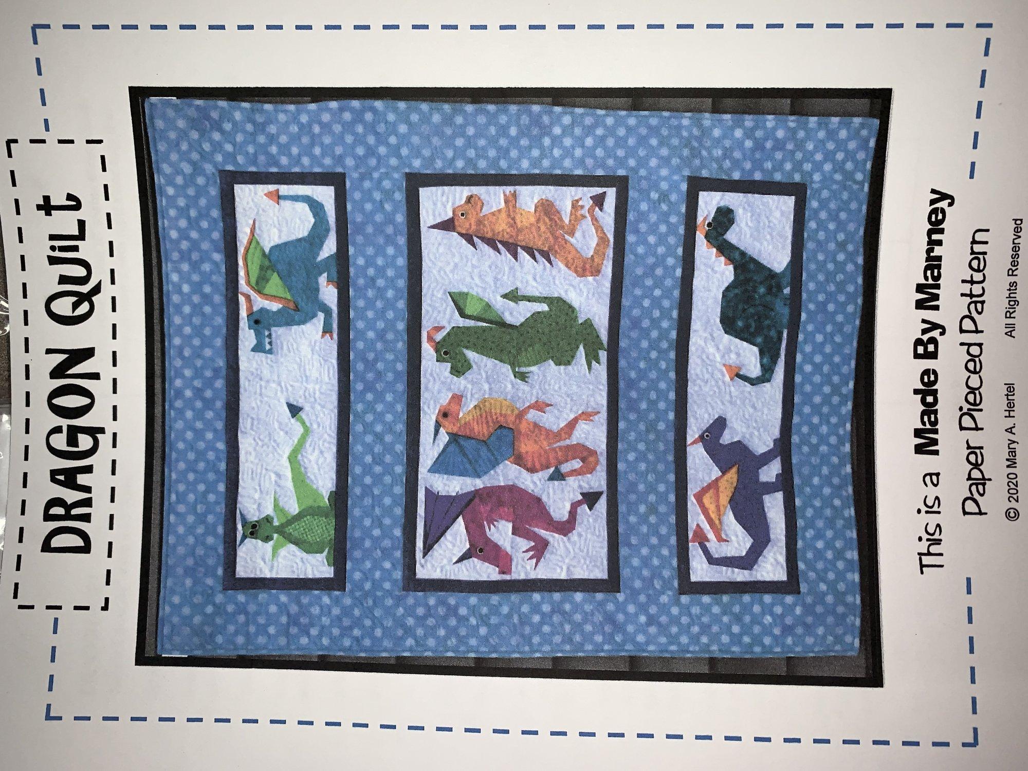 Dragon Quilt Paper Piecing Pattern