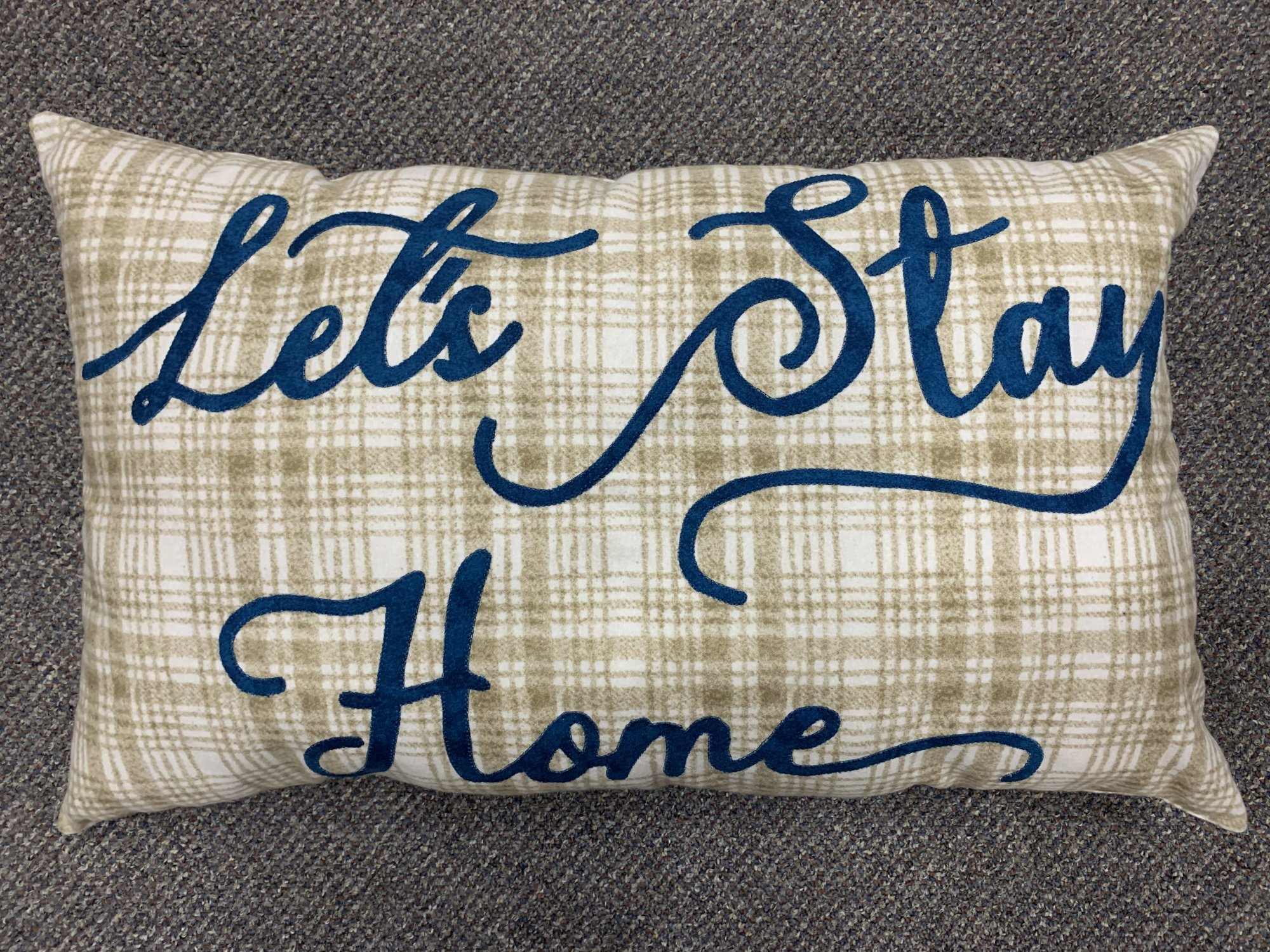 Let's Stay Home Pillow Flannel Kit