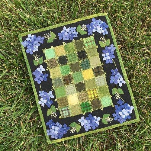 Little Granny Garden Blue Wool Kit