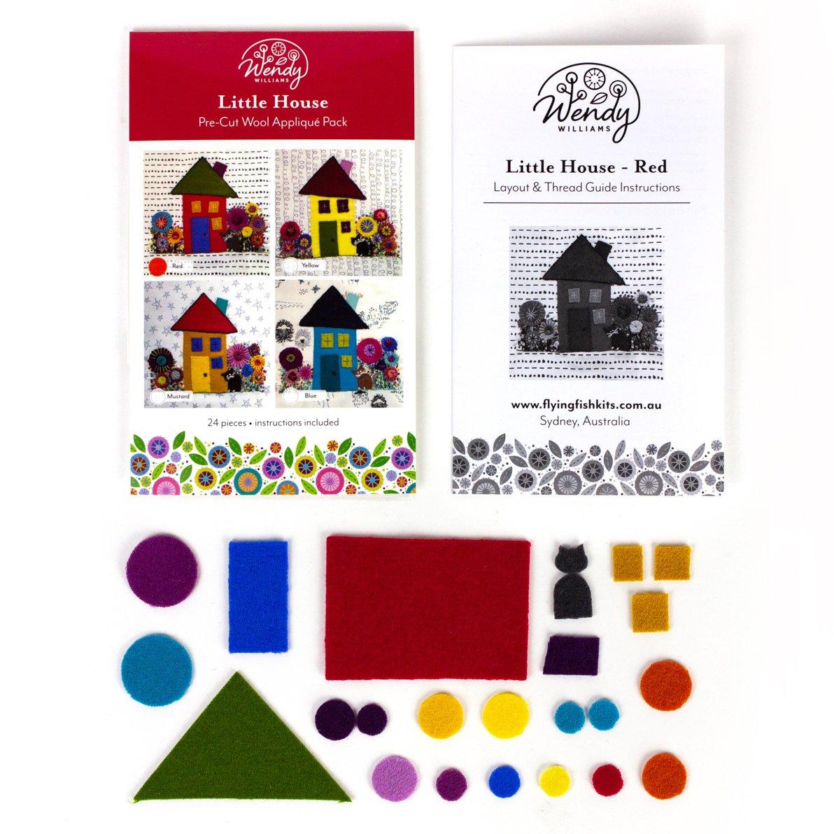 Precut Wool kit Little House Red