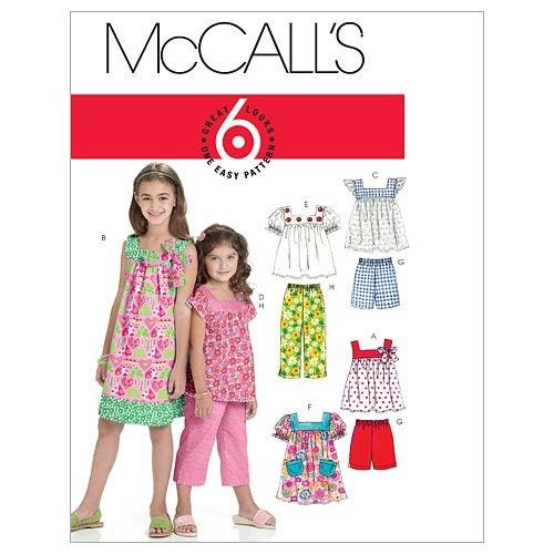 McCalls M6022 Child Dress and Pants