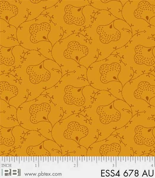 P&B Bear Ess Scroll Flower Gold