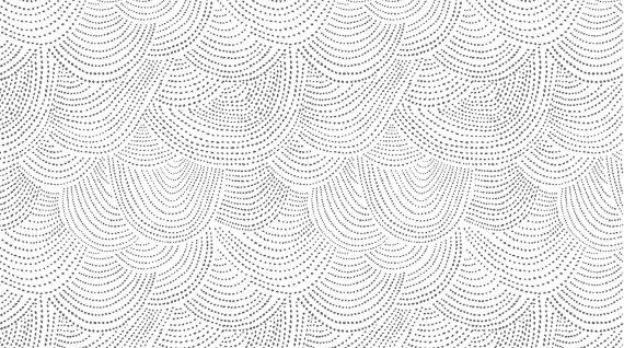 White Scallop Dot