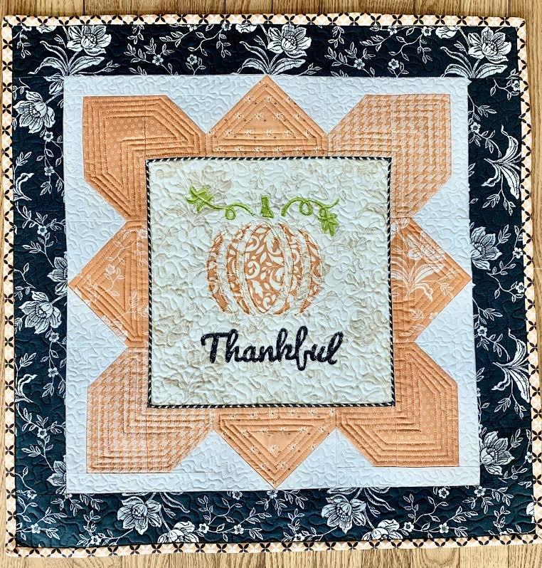 Thankful Pumpkin Mini Quilt Pattern